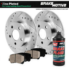 """Brake Rotors FRONT+REAR KIT ELINE /""""DRILLED AND SLOTTED/"""" /& CERAMIC PADS RA26004"""