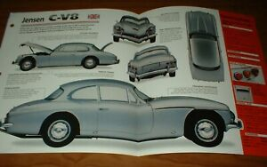 ★★1965 JENSEN C-V8 MK III ORIGINAL IMP BROCHURE SPECS INFO 65 62-66 CV8 MARK 3★★