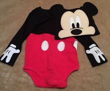 Mickey Mouse Baby Costume Bodysuit Size 9 To 12 Months