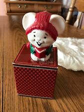 Vtg 1981 Avon Gift Collection Carolling Trio Melodic Mouse Candle New In Box