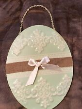 Brand New Mint Green Wall Hanging Tin Egg