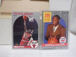 1990-91 NBA HOOPS Basketball Complete Set Series 1 & 2 1-440 JORDAN 060121MGL
