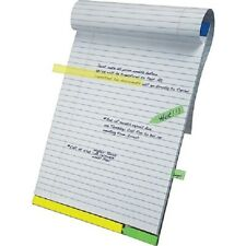 EZ Flag Writing Pads Highlighter Strips Wide Ruled Office School Tablets Paper