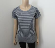 NWT Lululemon Run Swiftly Tech Short Sleeve Crew Size 10 Striped Gray
