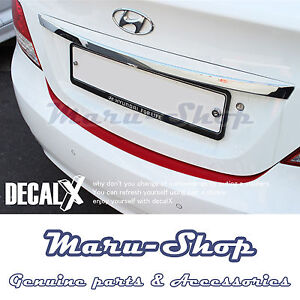 DecalX Rear Bumper Trunk Protector Decal Sticker for 12~17 Hyundai Accent 4DR