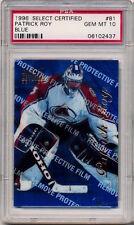 1996-97 Select Certified PATRICK ROY BLUE (HOF) Avalanche GEM MINT PSA 10