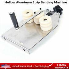 Hollow Aluminum Strip Bending Machine Manual Aluminum Bar Bender+2 Molds Hot