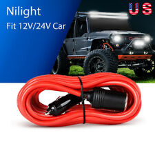 Nilight 14ft Extension Cord Cable Heavy Duty Charger w/ Cigarette Lighter Socket
