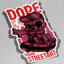 Street Kid Sleep volonté Repeat social Vinyle Sticker Décalque Window Car Van Bike 3079