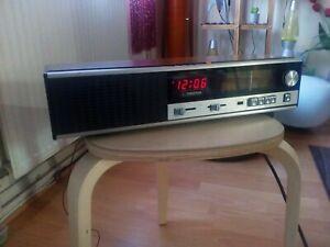 Vintage  Ferguson Model No. 3196 Radio Alarm Clock 1970's