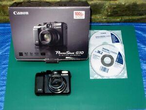 Faulty for Spare Parts Repair Canon PowerShot G10 14.7 Megapixel Digital Camera