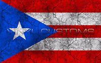 "Puerto Rico Flag Vinyl Decal Sticker - 5"" in."