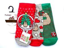 Pusheen The Cat - 3 Pairs Christmas Socks / Shoe Liners - UK 4-8 Primark