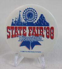 """Vintage Disney Disneyland State Fair '88 2"""" Button"""