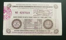 (RM) 1985  Lottery drawn in Batu Pahat