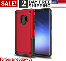 Samsung Galaxy S9 Protective Case Slim Dual Layer Hard PC TPU Phone Cover Red