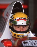 1989 F1 Racecar Driver AYRTON SENNA Glossy 8x10 Photo Formula One 1 Print Poster