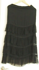 GUESS COLLECTION BLACK LONG RUFFLE SKIRT Size 4