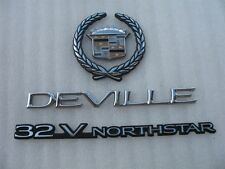 2000 2001 CADILLAC DEVILLE 32 V NORTHSTAR REAR EMBLEM LOGO BADGE SIGN SET 00 01