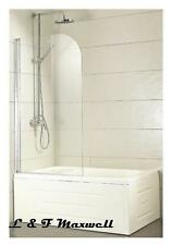 TOUGHEN GLASS Pivoting Over Bath Shower Screen 750 x 1350