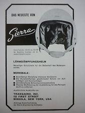 4/1966 PUB SIERRA ENGINEERING CASQUE AVIATION HELMET ORIGINAL GERMAN AD