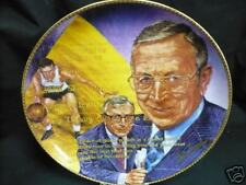 """JOHN WOODEN  AUTOGRAPHED 10 1/4"""" PLATE"""