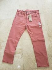LEVI'S JEANS MENS REGULAR FIT 502 TAPERED LEG FADED RED JEANS 34X32 NWT