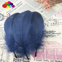 100 Pcs Goose feathers 15-20 Cm/6-8 Inch navy Diy Stage Props Decor Headress