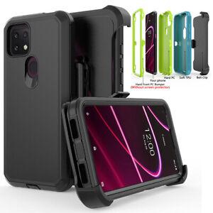 For T-Mobile REVVL 4 Plus Shockproof Case Cover Belt Clip Fits Otterbox Defender