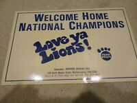 Penn State Nittany Lions, National Champions Poster,1982, Welcome Home