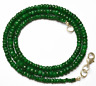 19 inch GENUINE Super Natural Emerald Faceted Rondelle beads Necklace 3 -5 MM
