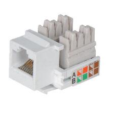 RJ45 IDC Network Keystone Jack Module-CAT5 & CAT6 Ethernet Plastic LAN Connector