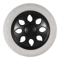 2X( Black White Plastic Core Foam Shopping Trolley Cartwheel Casters Q9C3)