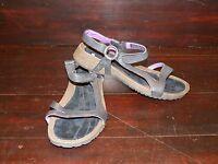 New Womens TEVA Cabrillo Black/Purple Strappy Leather Sandals US 7 UK 5 EU 38