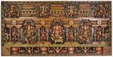 """Masterpiece Large Carved Ganesha Panel Wood Hand Craft 36"""" Jai God Hindu 46.4 KG"""