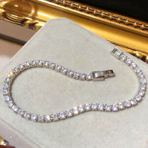 New Silver Tennis Bracelet Cubic Zircon Crystal Style