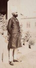 A Sikh Man in Calcutta Kolkata India 1903 7x4 Inch Reprint Photograph