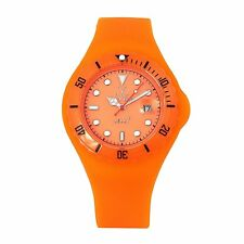 ToyWatch Women's Orange Dial Orange Rubber Strap Quartz Watch JYD03OR