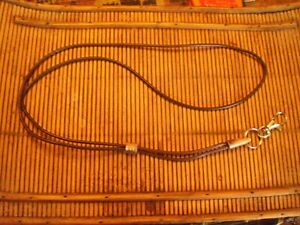 HANDCRAFTED LEATHER  WHISTLE LANYARD (dark tan)