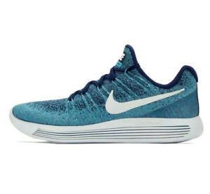 Nike LunarEpic Low Flyknit 2 Running Trainers Gym - UK Size 8 (EUR 42.5) Blue