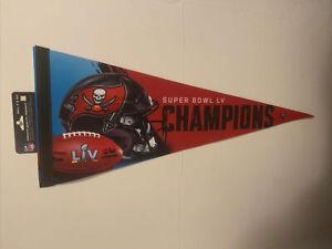 Superbowl LV Tampa Bay Buccaneers Prememium Pennant 12x30