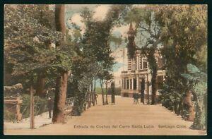 Mayfairstamps Chile Santiago Entrada De Coches Del Cerro Santa Lucia Postcard ww