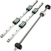 2X Linear Rail HGR20-900mm 4X Blocks Ballscrew RM1605-900mm BF12/BK12 CNC Set