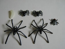 FAKE FLY 2 tipo di Spider Vermi Scherzo Burla in plastica gomma Gag Trick Finto Insetto