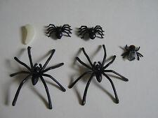 Fake Fly 2 Type of Spider maggot Joke Prank Plastic Rubber Gag Trick fake insect