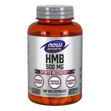 Now Foods Hmb 500 Mg - 120 Vegicaps Made in USA FREE SHIPPING