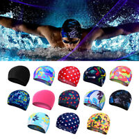ADULT SWIMMING HAT Durable Elastic Silicone Pool Beach Swim Head Cap Summer Hot