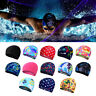 Unisex Adults Easy Fit Swimming Hat Swim Caps Bathing Nylons Spandex Fabric #@