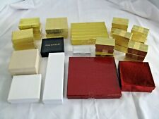 31 Jewelry Gift Boxes Gold Foil White Red Silver Ring Earring Pendant Necklace