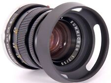 Leica Summicron-M 2/50mm Elmar-M 1:2 .8 f = 5 cm Fit 39 mm Metal vented Lens Hood E39